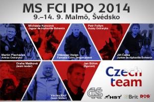 Česká reprezentace - MS FCI IPO 2014 Malmö, Švédsko