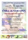 Pozvánka na ČMKU Junior Open 2016